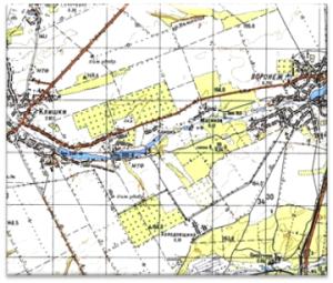 Карта району досліджень